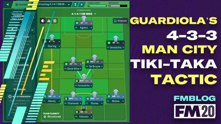 FM20 - Pep Guardiola's 4-3-3 Man City Tiki-Taka Tactic