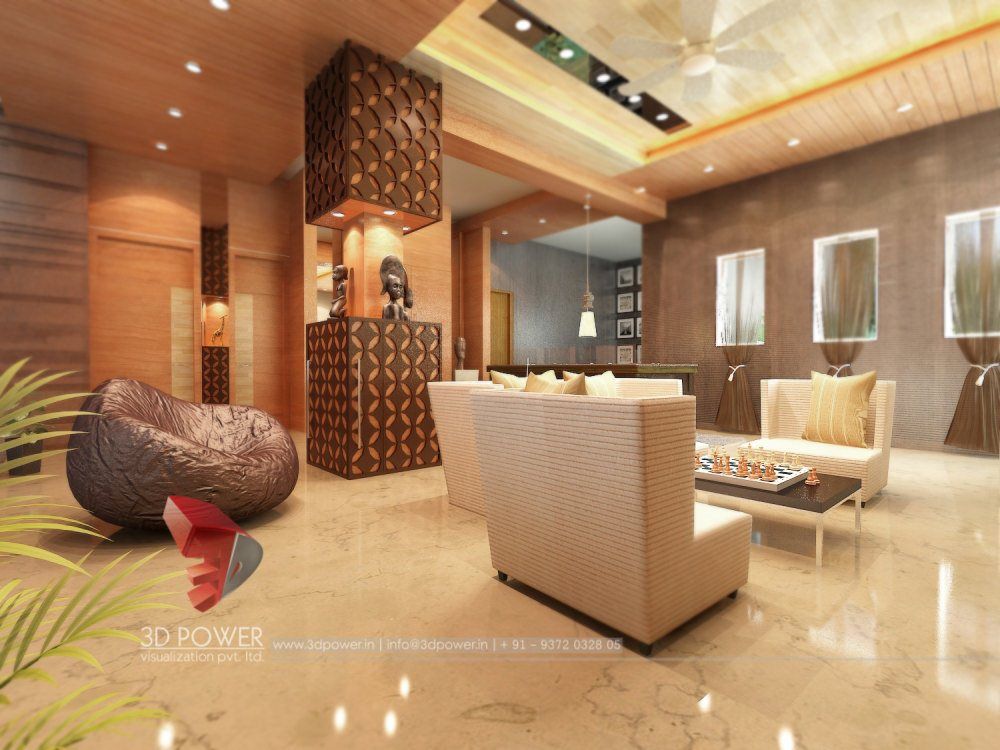 Beautiful Interior Designing Studio   3D Power