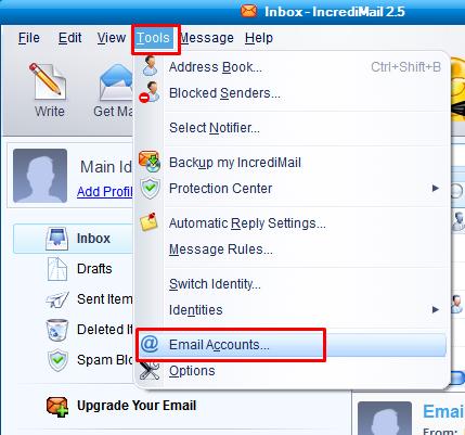 Paramètres IMAP en flashnet