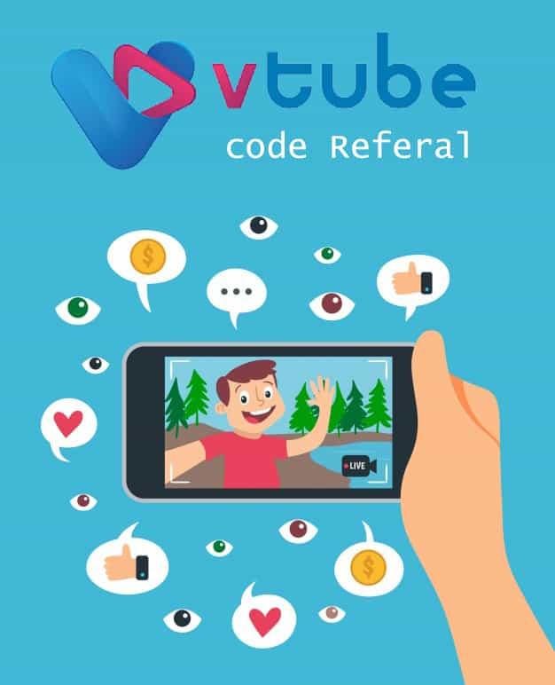 cara daftar vtube dengan kode referral