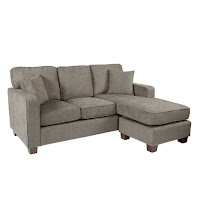A gorgeous small sized sectional couch