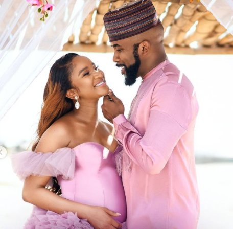My baby had a baby and he is everything we prayed for'' Banky W celebrates his wife Adesua as she 35 years old