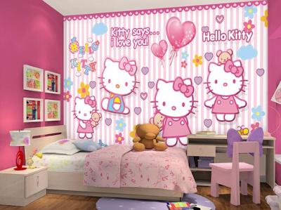 Desain Motif Wallpaper Kamar Tidur Anak Terbaik 2018 2