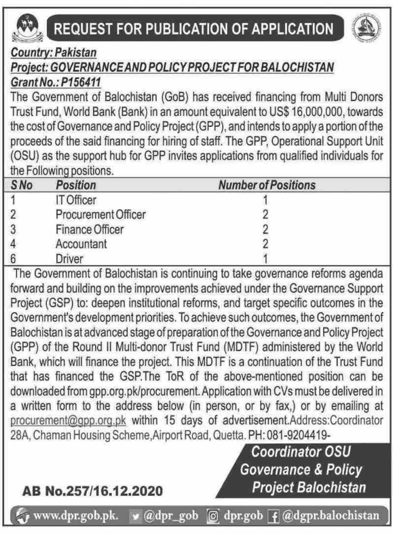 GPP - What is GPP - www.gpp - GPP Chip - Governance & Policy Project - Online Apply - procurement@gpp.org.pk