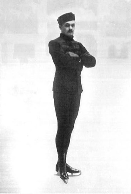Photo of Russian Nikolai Panin, AKA Nikolai Kolomenkin on the ice, looking very dapper. The Olympics Special Figures Skating Gold Medal champion 1908. Your Russians are missing and other stories about past Olympics. marchmatron.com