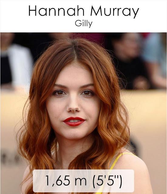 Hannah Murray (Gilly) 1.65 m