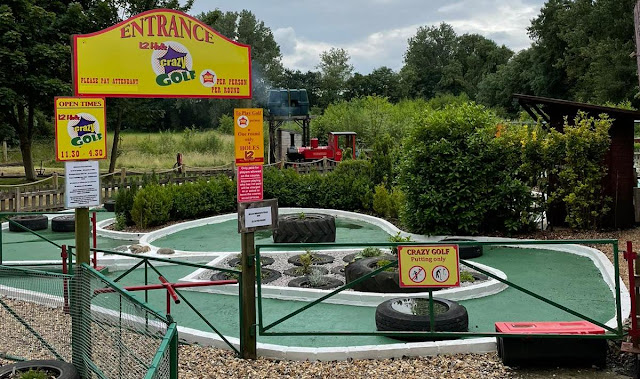 Crazy Golf at Bressingham Steam & Gardens in Diss. Photo by Christopher Gottfried, July 2021