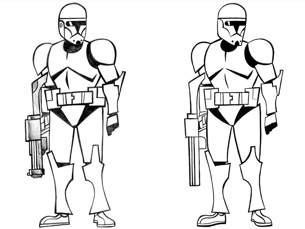 Star Wars Clone Coloring Pages Printable 1080p