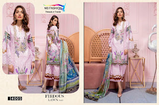M3 Fashion Firdous lawn 3 Pakistani Suits Wholesaler