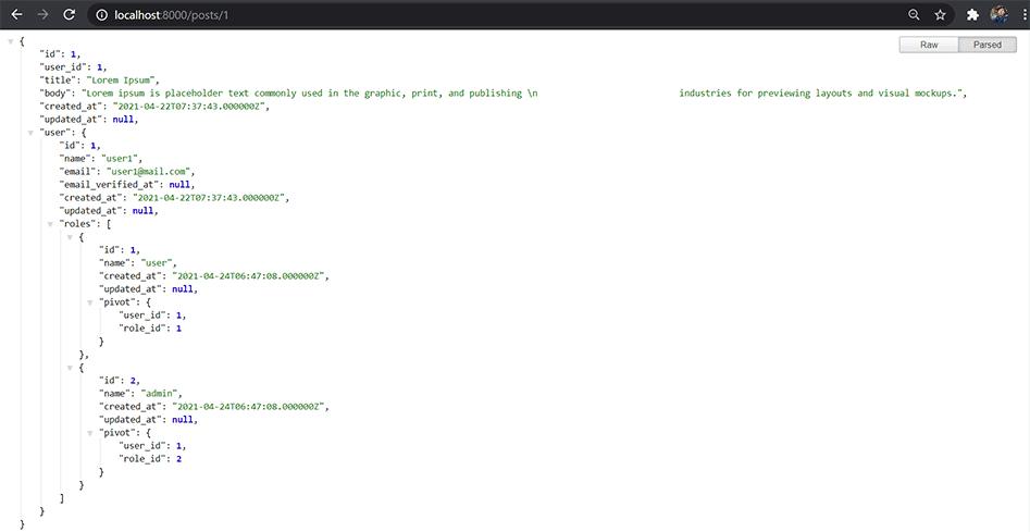 Belajar Relasi Eloquent Laravel - MySQL Database