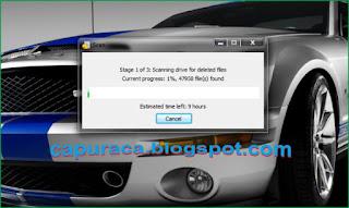 Cara menggunakan Recuva untuk mengembalikan file yang terhapus proses scanningnya bisa cukup lama tergantung kapasitas hardisk