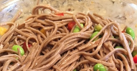 EDAMAME AND SOBA NOODLES
