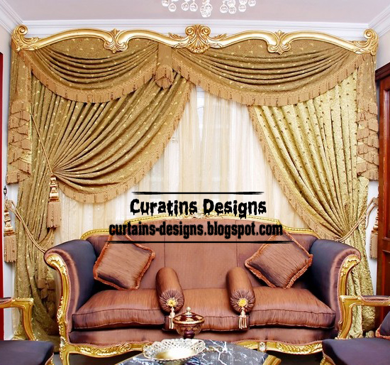 Luxury Living Room Curtain Designs