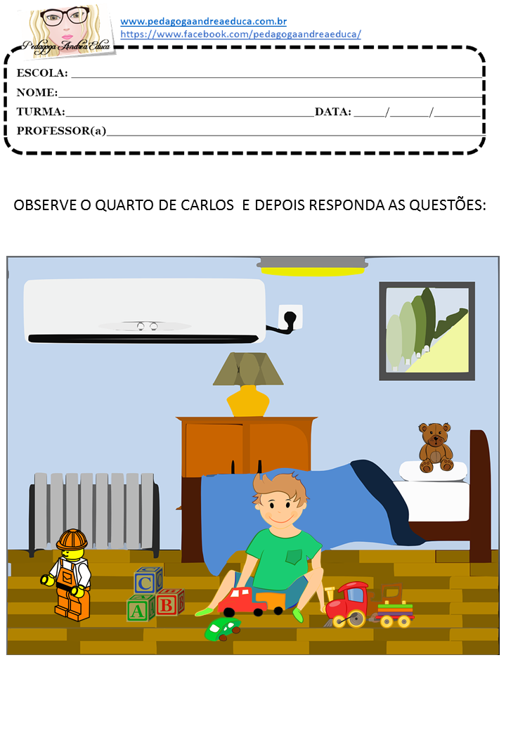 ATIVIDADES ENVOLVENDO LATERALIDADE - DIREITA E ESQUERDA.