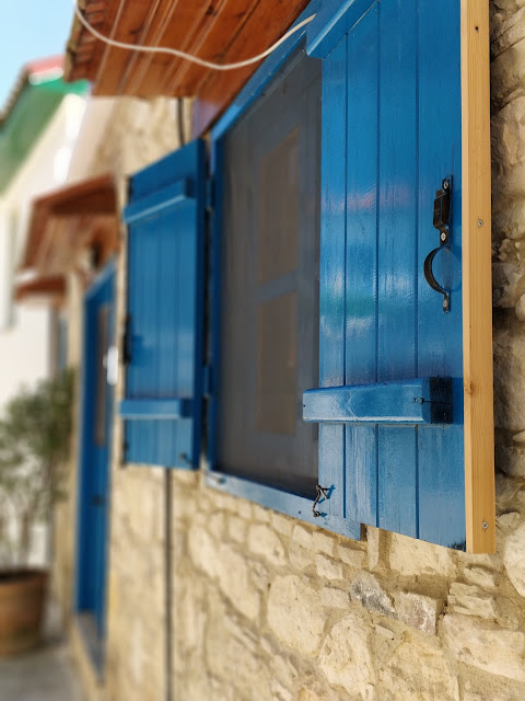 shutters in Omodos Cyrpus