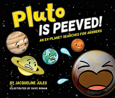 In this comic-book-style picture book, Pluto doesn't understand why he was demoted from his former status as a planet, so he sets out around the museum to find out. #PlutoIsPeeved! #NetGalley #ComicBook #Pluto #GraphicNovel