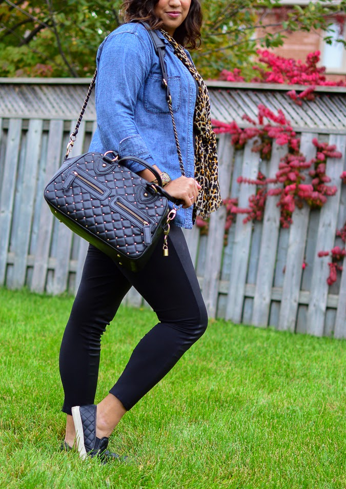 Fall fashion: Leather and leopard from The-Lifestyle-Project.com