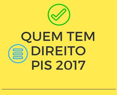 Quem tem direito ao PIS 2017