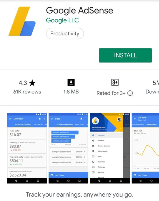 Download Google Adsense Android App