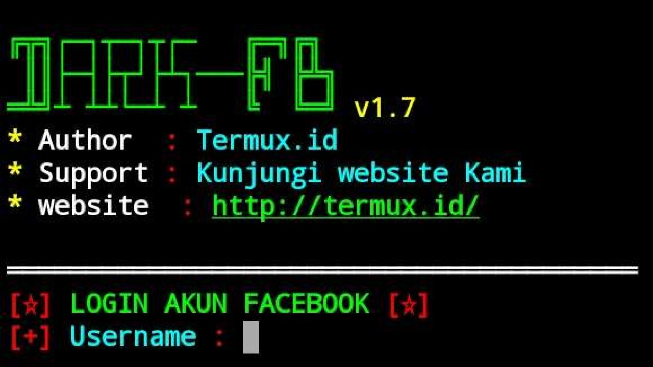 Hack Facebook Menggunakan Tools Dark Fb V1 7 Di Termux