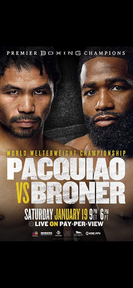 """Pacquiao vs. Broner"" poster"