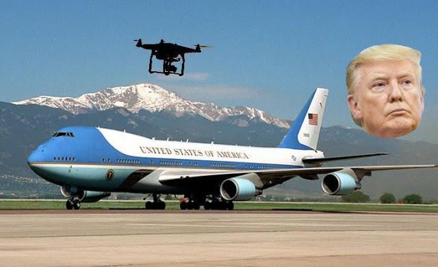 Detik-Detik saat Jet Pribadi Donald Trump Nyaris Ditabrak Pesawat Tanpa Awak