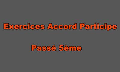 Exercices Accord Participe Passé 5ème à Imprimer