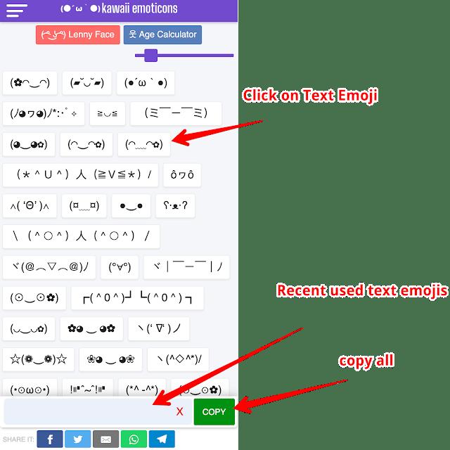 Kawaii Emoticons Uses