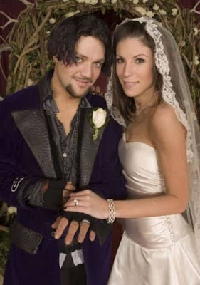 Missy Rothstein with her ex-husband Bam Margera in their wedding dress