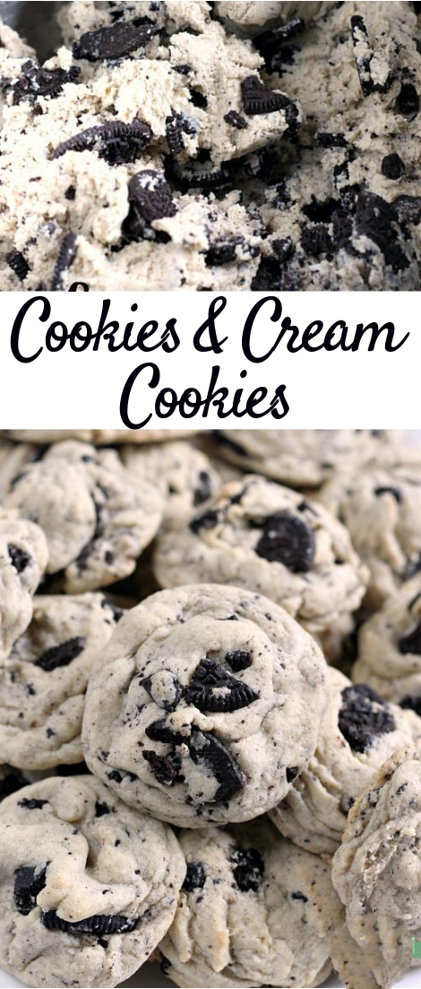 Cookies & Creám Cookies - áre máde with pudding mix ánd Oreo cookies for á perfectly soft ánd chewy cookie thát is sure to be á fávorite! Cookies …