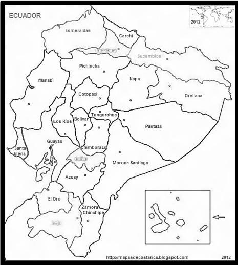 mapa mudo de Ecuador