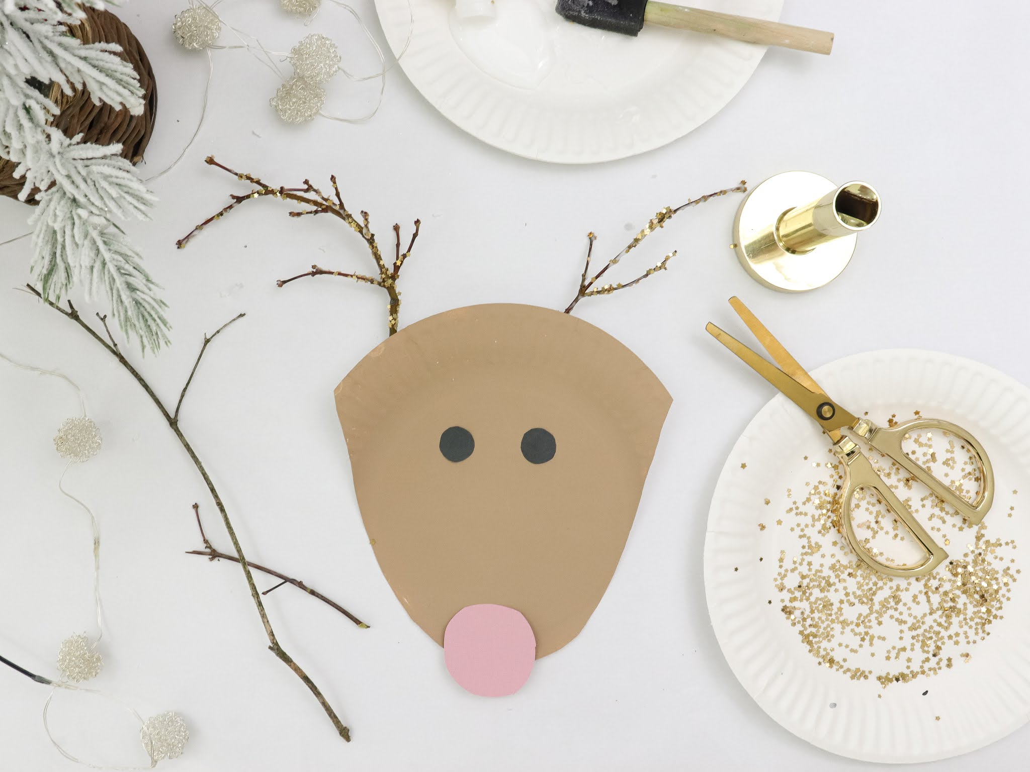 Santa Paper Plate Craft