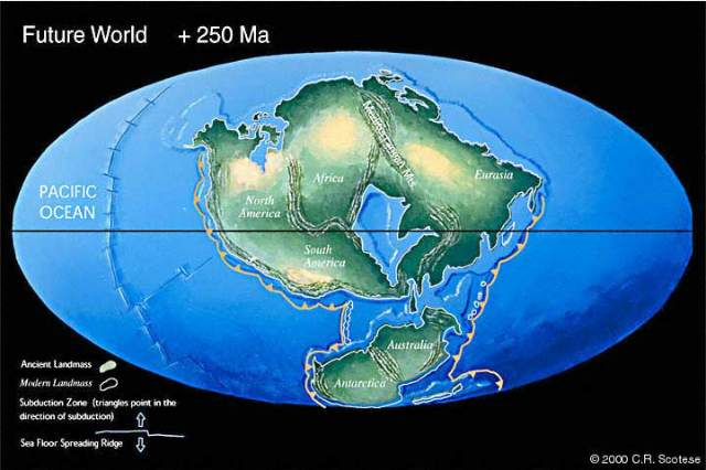 Pangea Ultima (Will form after 250 millions years)