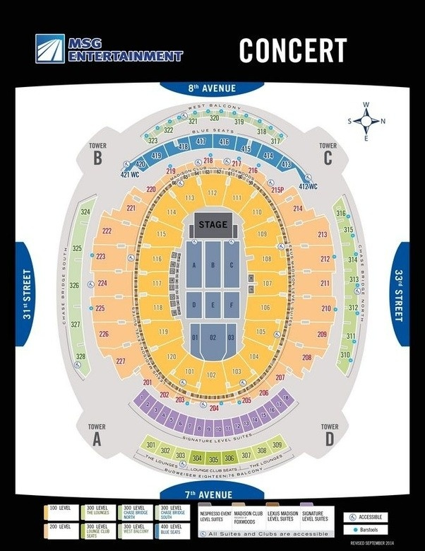 ✓ Lovely Madison Square Garden Seating Chart Concert - Seating Chart