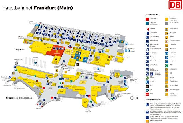 Mapa interior da Estação Hauptbahnhof de Frankfurt