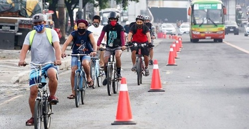 bikers bicycle commuters in Metro Manila