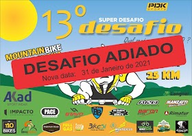 13º DESAFIO DOS 100 KM EM MOUNTAIN BIKE - 2020 (INFO)