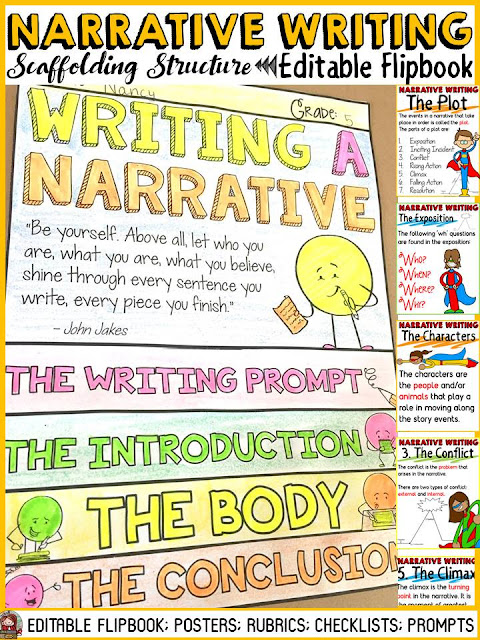 narrative writing flipbook
