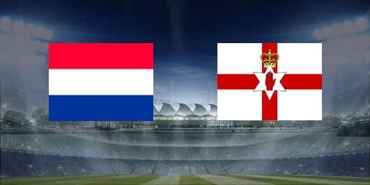 مباراة هولندا وإيرلندا الشمالية بتاريخ 16-11-2019 التصفيات المؤهلة ليورو 2020