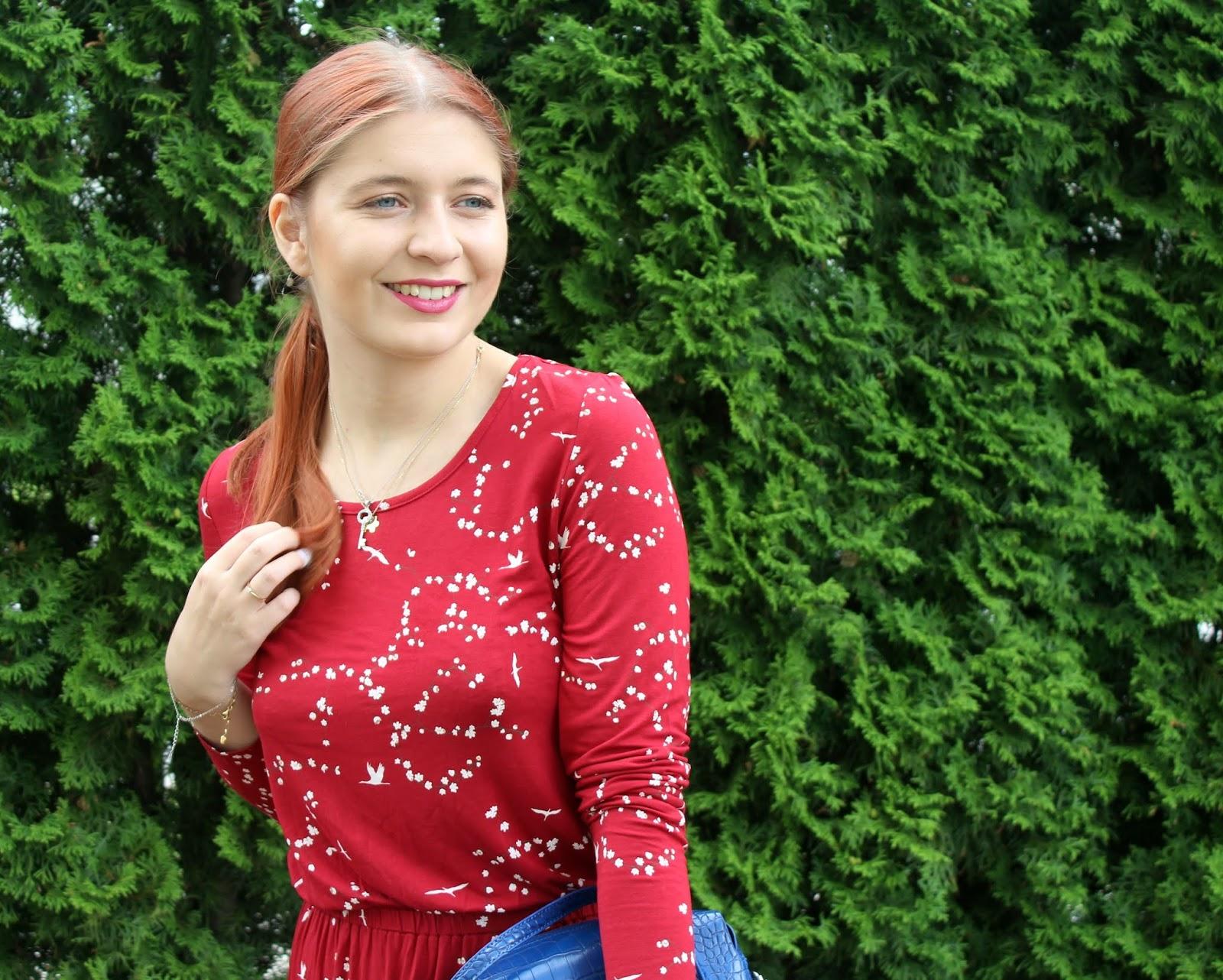 Czerwona midi sukienka