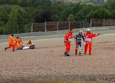 Jatuh di Latihan Pertama GP Jerman, Lorenzo Lolos Cidera Patah Lengan