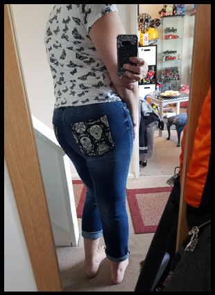 Placing a pocket back on a faulty shop bought pair of jeans!