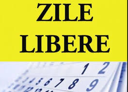 zile libere 2020