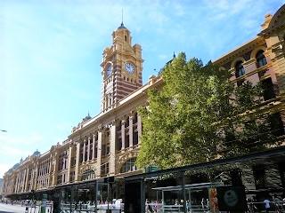 メルボルンのフリンダース駅(オーストラリア)写真