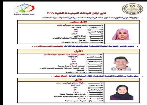 برقم الجلوس.. نشر نتيجة الدبلومات الفنية للعام الدراسي الحالى 2018/ 2019