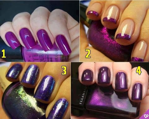 Simple Purple nail art designs | Fashion's Feel | Tips and ...
