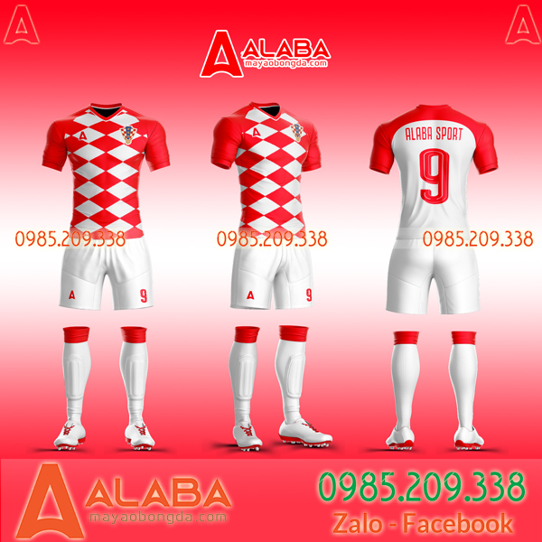 Áo Croatia đỏ 2019 2020