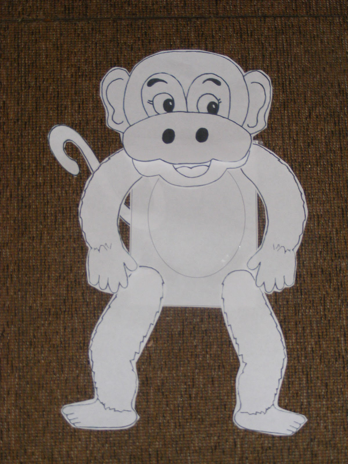 Homeschool 4 Free Zoo Animals Monkey Craft