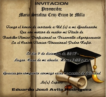 modelos de tarjetas de graduación bonita con decoración de birrete y titulo enrrollado, invitación de graduación, invitaciones para graduación