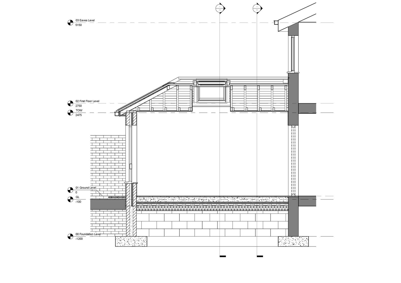 Revit Detail 09 7 House Extension Section Annotation